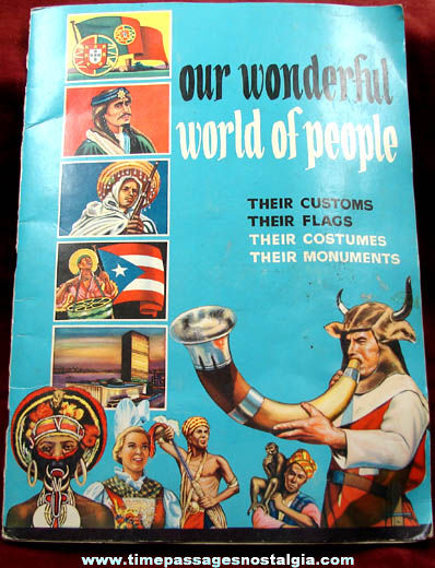 Complete �1963 Our Wonderful World of People Stamp Book