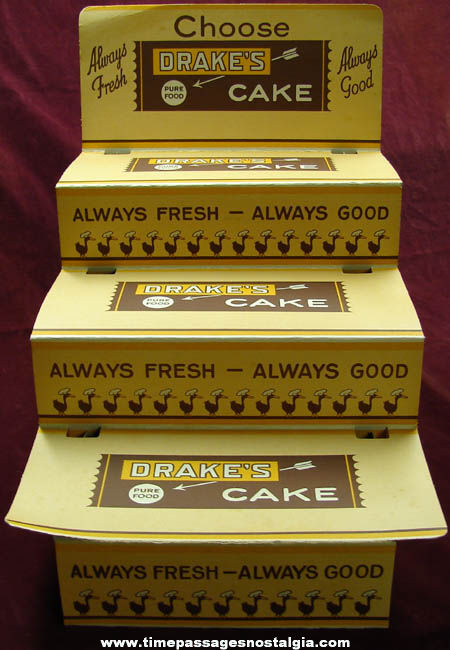 Large Old Drake's Cakes Advertising Cardboard Store Display