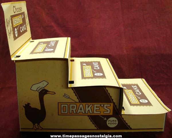 Large Old Drake's Cakes Advertising Cardboard Store Display
