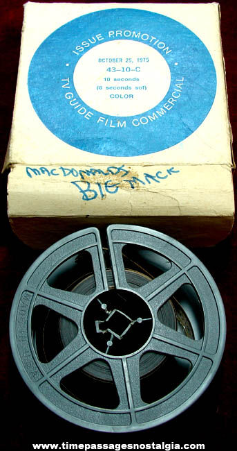 ©1975 McDonalds Big Mac Advertising Commercial 16mm Film