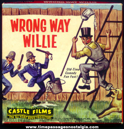 Boxed ©1964 Wrong Way Willie Castle 8mm Comedy Film