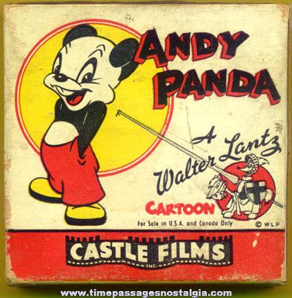 Old Boxed Walter Lantz Andy Panda's Pop Castle 16mm Cartoon Film