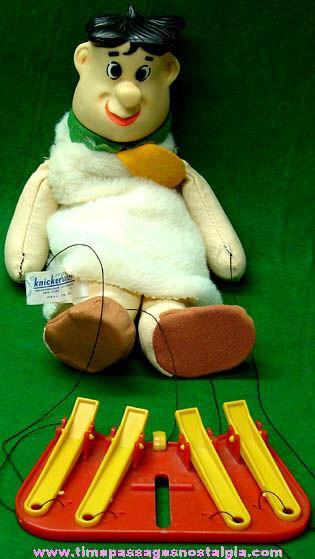 ©1962 Hanna Barbera Fred Flintstone Knickerbocker Marionette Puppet Toy
