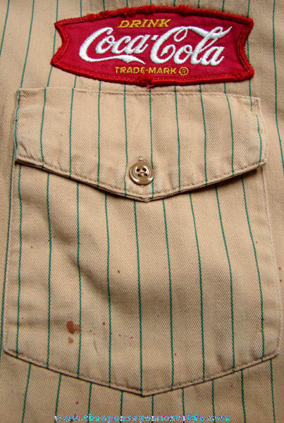 Old Coca-Cola Employee Uniform With Cloth Patch