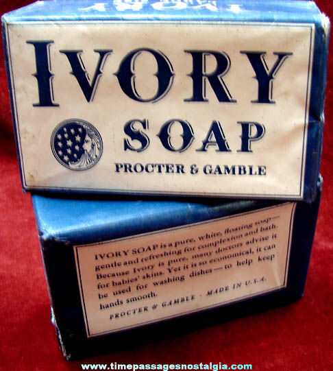 (2) Old Unopened Proctor & Gamble Ivory Soap Bars