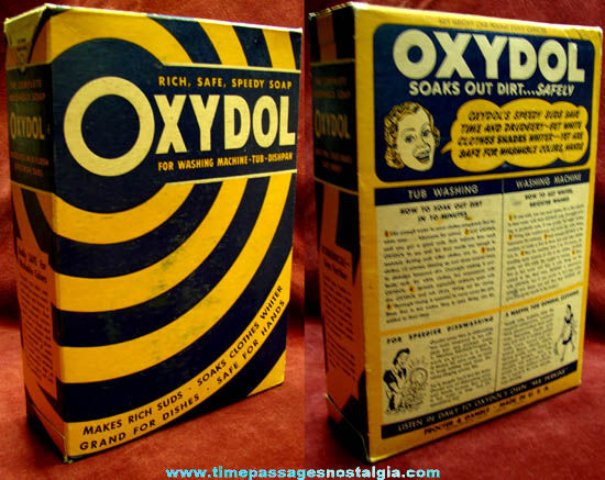 Old Unopened Proctor & Gamble Oxydol Laundry Soap Box