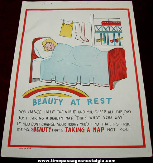 Old Salesman Sample Beauty At Rest Comic Valentine