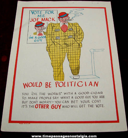 Old Salesman Sample Would Be Politician Comic Valentine