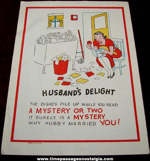 Old Salesman Sample Husband's Delight Comic Valentine