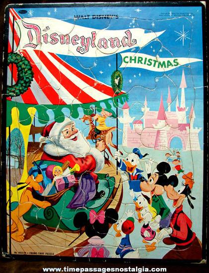 ©1956 Walt Disney Disneyland Christmas Frame Tray Jigsaw Puzzle