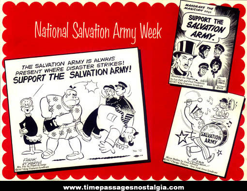 ©1967 Comic Strip Character Salvation Army Placemat