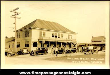 Early Unused Higgins Beach, Maine Real Photo Post Card
