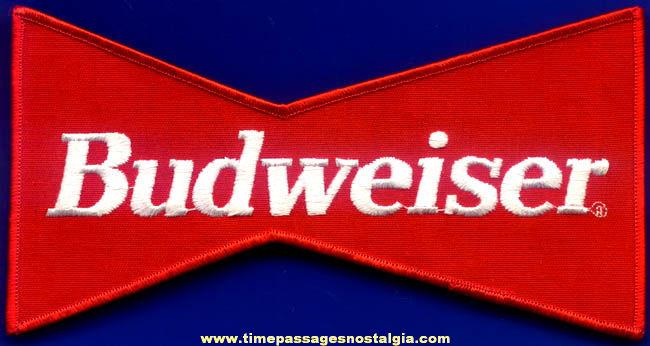 Old Unused Budweiser Beer Employee Jacket Advertising Cloth Patch
