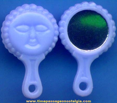 (50) 1960s Gum Ball Machine Prize Blue Hand Mirror Toy Charms