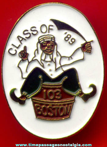 (5) Unused Boston Class Of 1989 Painted Pins