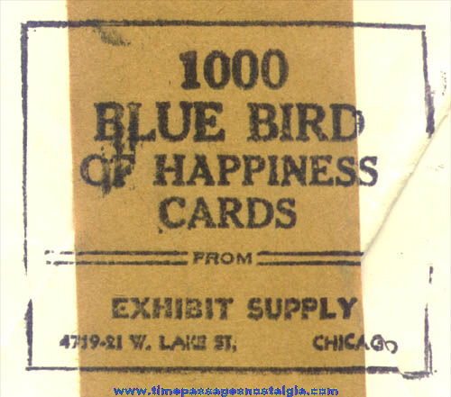 (50) �1943 Blue Bird of Happiness Exhibit Supply Arcade Fortune Cards