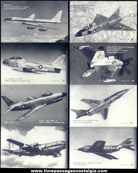 (32) Old Jet Plane Exhibit Supply Arcade Cards