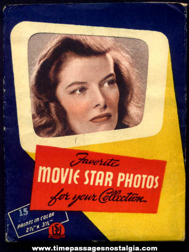 Old Envelope With (3) Television & Movie Star Actress Color Prints