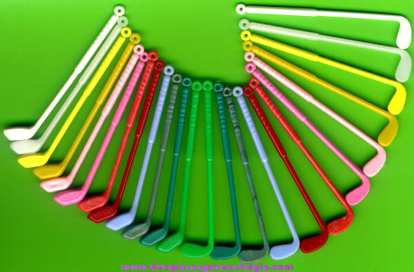(24) Colorful Old Golf Club Toy Prize Charms