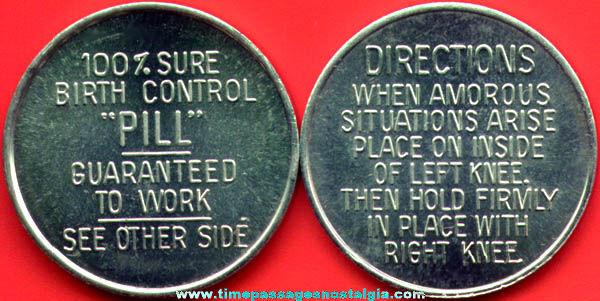 (15) Metal 100% Guaranteed Birth Control Pill (coins)
