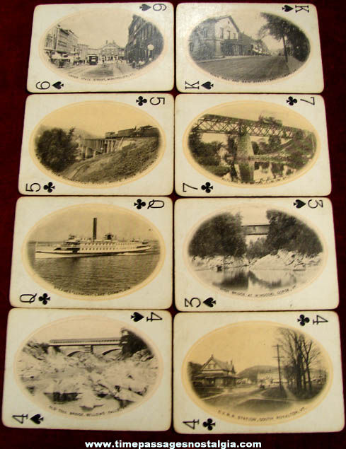 Old Vermont Green Mountain State Souvenir Playing Card Picture Deck