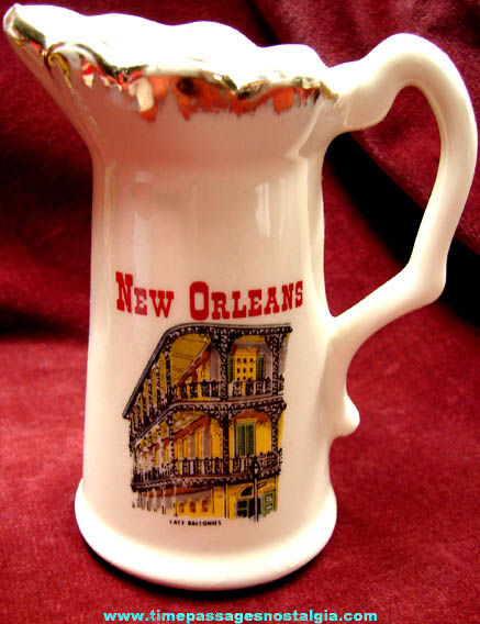 Old New Orleans Louisiana Souvenir Creamer Pitcher