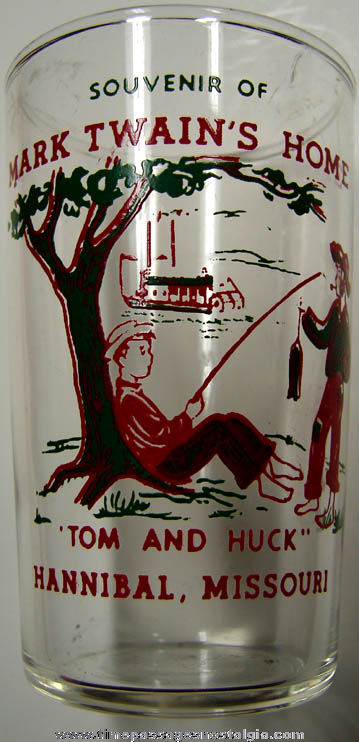 Old Mark Twain Home Hannibal Missouri Souvenir Drink Glass