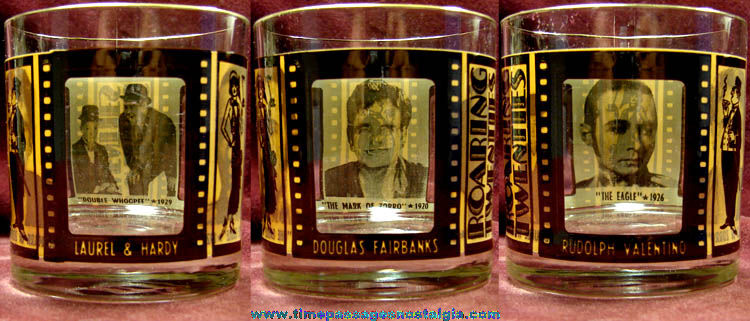 Old Movie Theatre Film Actor Drinking Glass