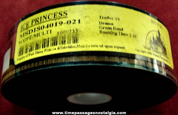 2005 Walt Disney Ice Princess Movie 35mm Teaser Trailer Film
