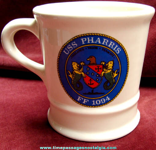 United States Navy Ship U.S.S. Pharris FF-1094 Ceramic Coffee Mug