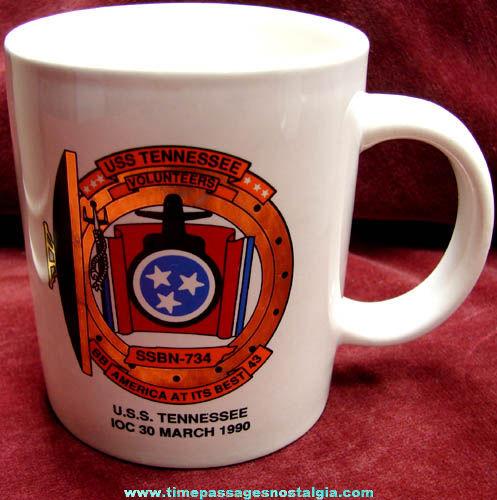 United States Navy Submarine U.S.S. Tennessee SSBN-734 Ceramic Coffee Mug