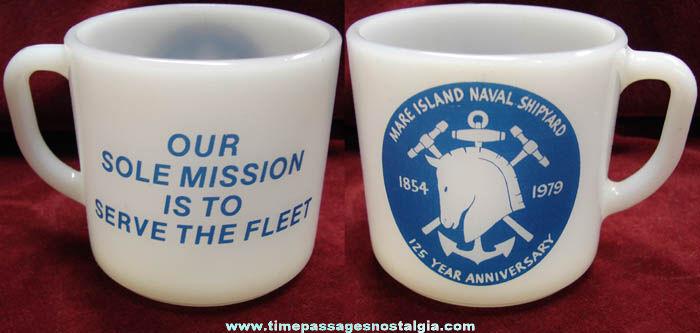 1979 Mare Island Naval Shipyard 125th Anniversary Coffee Cup