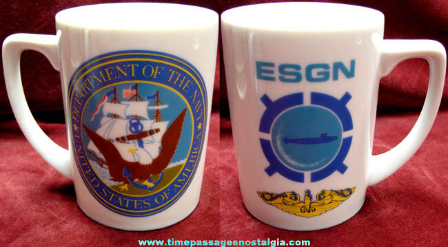 Old United States Navy Submarine Ceramic Coffee Cup