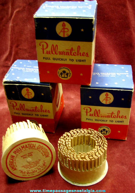 (6) Old Unused & Boxed Pullmatches Refill Rolls