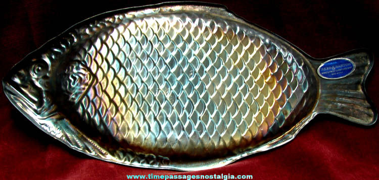Old reed barton silver plated fish serving platter tpnc for Fish serving platter