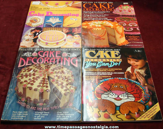 (4) Different Old Wilton Cake Decorating Year Book Catalogs