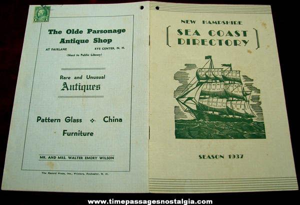 1937 Season New Hampshire Seacoast Advertising Directory Booklet