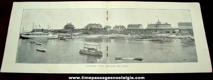 1905 Appledore House Isles of Shoals New Hampshire Advertising Souvenir Booklet With Bonus