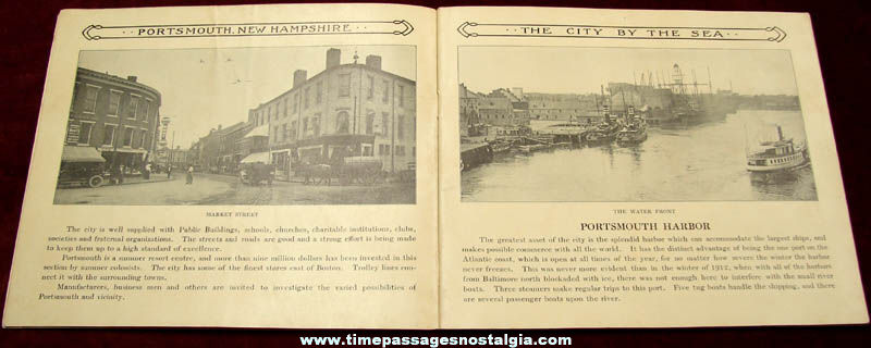 Old Portsmouth New Hampshire Advertising Souvenir Picture Booklet