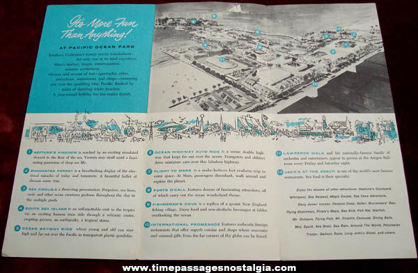 ©1958 Pacific Ocean Park Advertising Souvenir Brochure