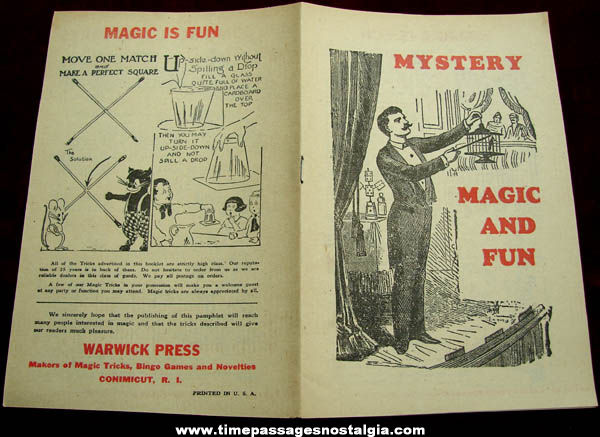 Old Warwick Press Mystery Magic & Fun Advertising Catalog