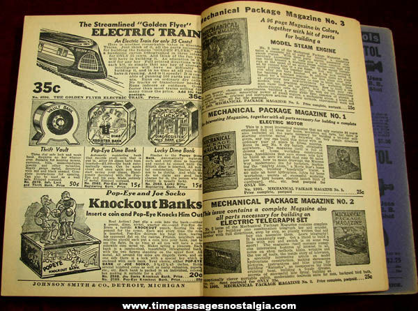 Old Johnson Smith & Company Card Trick & Magic Novelty Catalog Book
