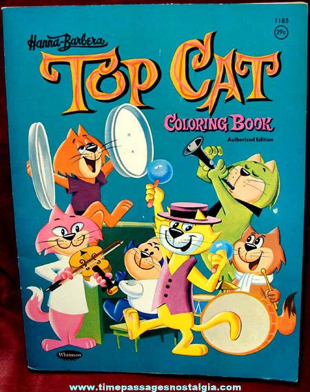 1961 Hanna Barbera Top Cat Whitman Coloring Book - TPNC