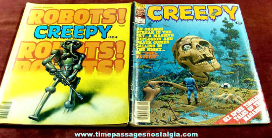 (6) Old Creepy Monster Comic Book Magazines