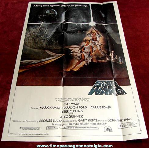 Unused ©1977 Star Wars Topps Movie Poster
