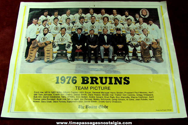 1976 Boston Bruins Hockey Team Picture