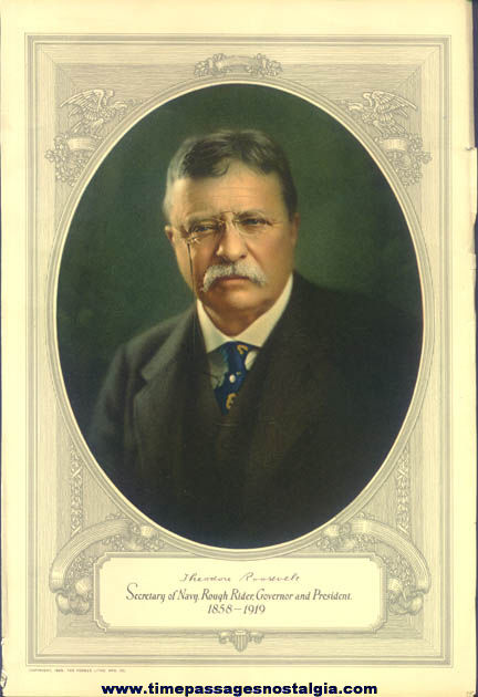 ©1929 United States President Theodore Roosevelt Print
