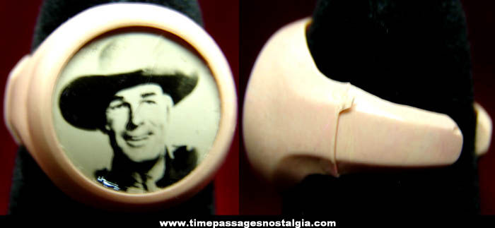 Old Randolph Scott Western Cowboy Real Photo Toy Ring