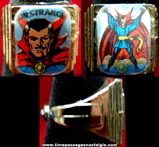 Old Marvel Super Heroes Dr. Strange Gum Ball Machine Prize Flicker Toy Ring