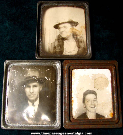 (3) Old International Mutoscope Reel Company Souvenir Photomatic Photographs